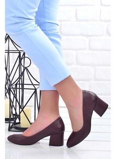 Ayakland Ayakland 97544-312 Cilt 5 Cm Topuklu Bayan Ayakkabı Bordo